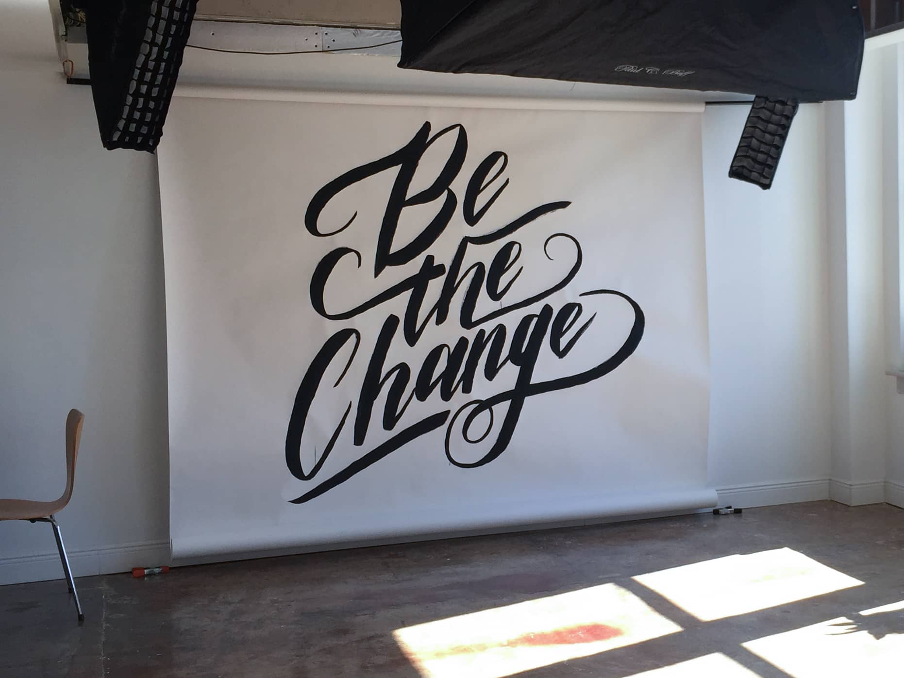Be the Chance hand lettered backdrop