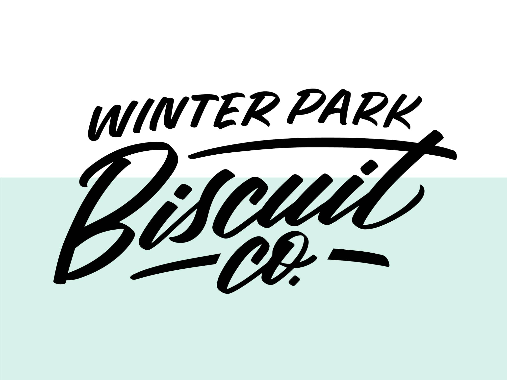Winter Park Biscuit Co. hand lettered brush lettering logo