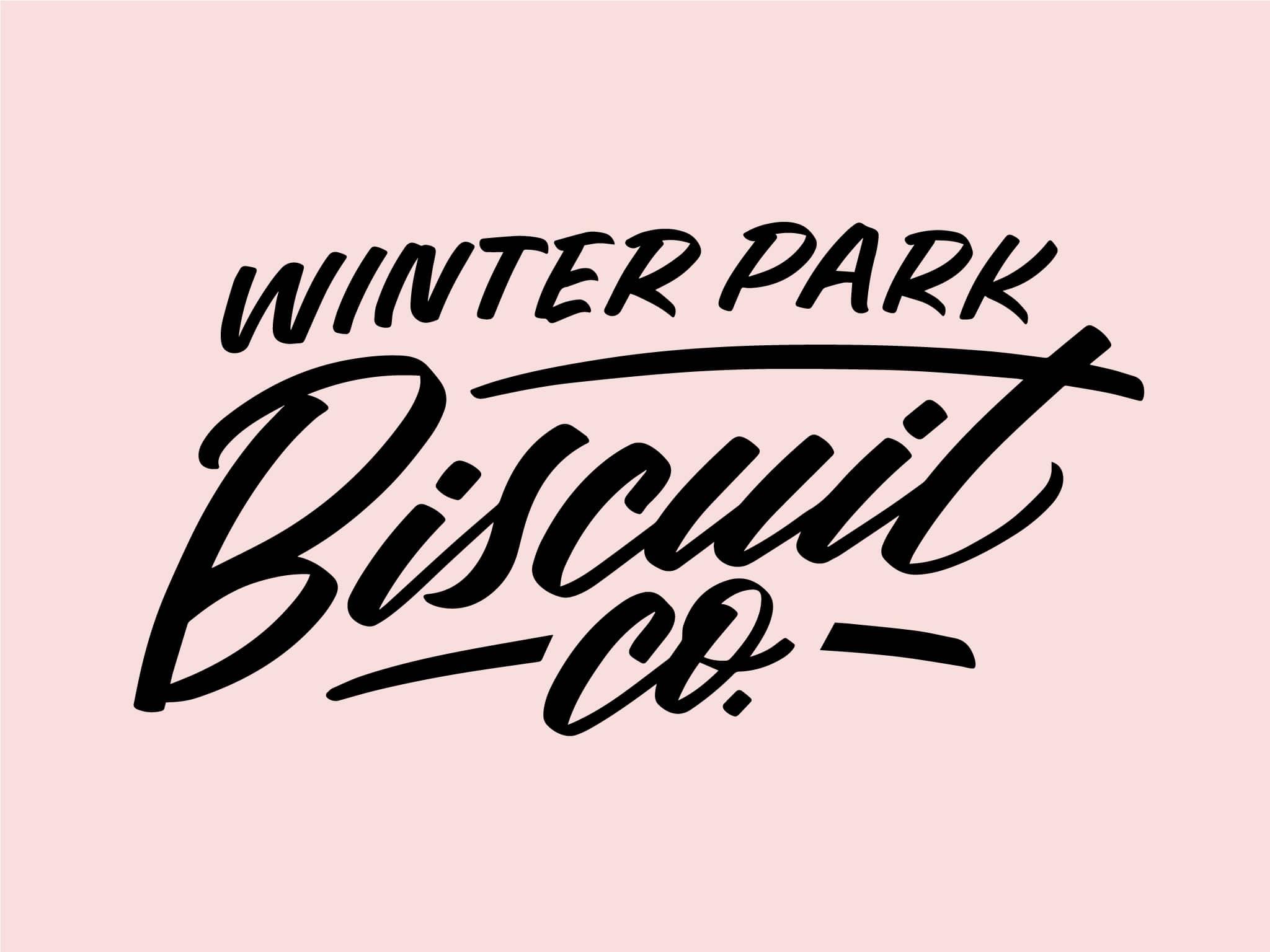 Winter Park Biscuit Co. hand lettered brush lettering logo