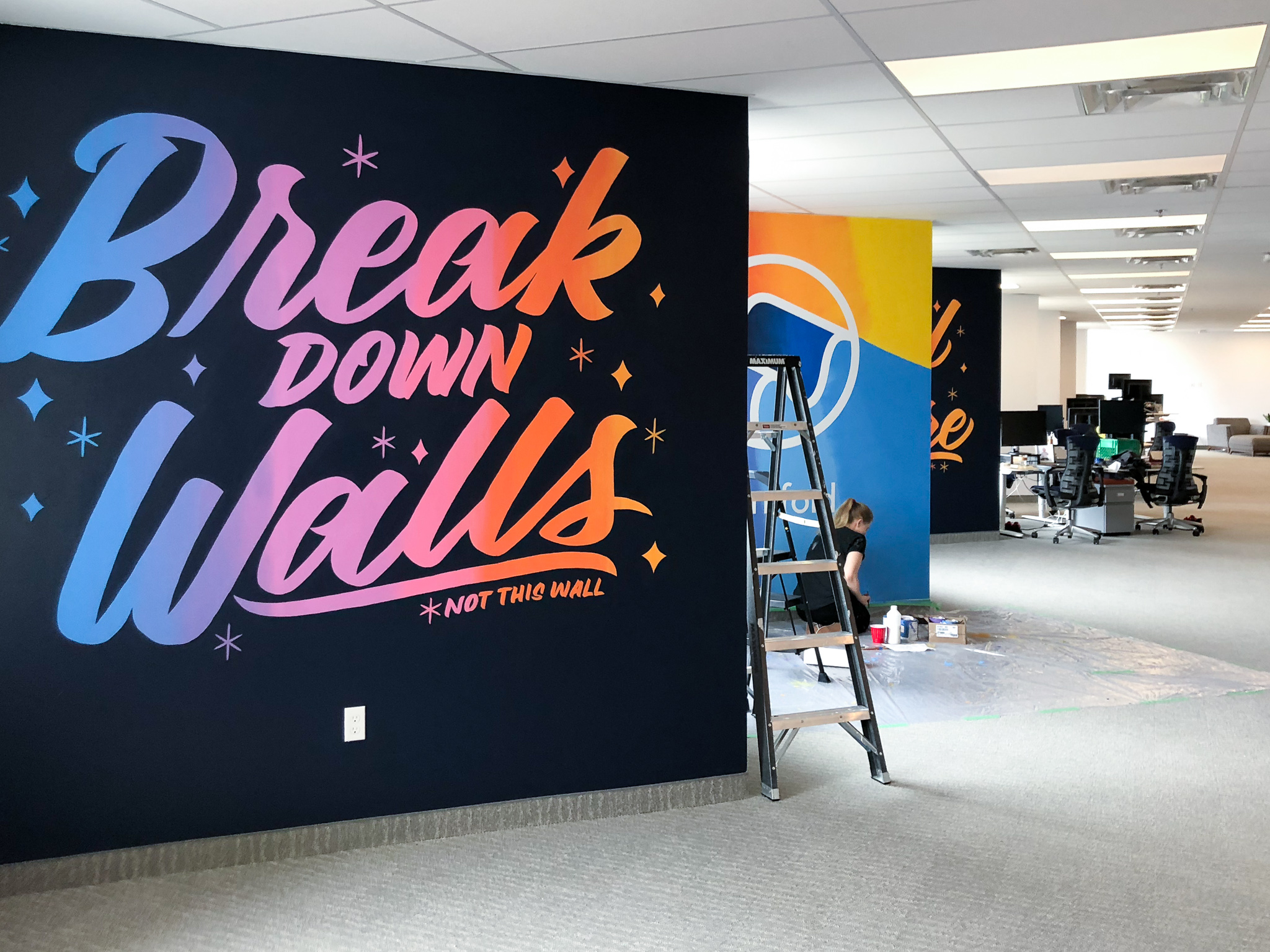 Manifold mural hand lettered by Hillery Powers