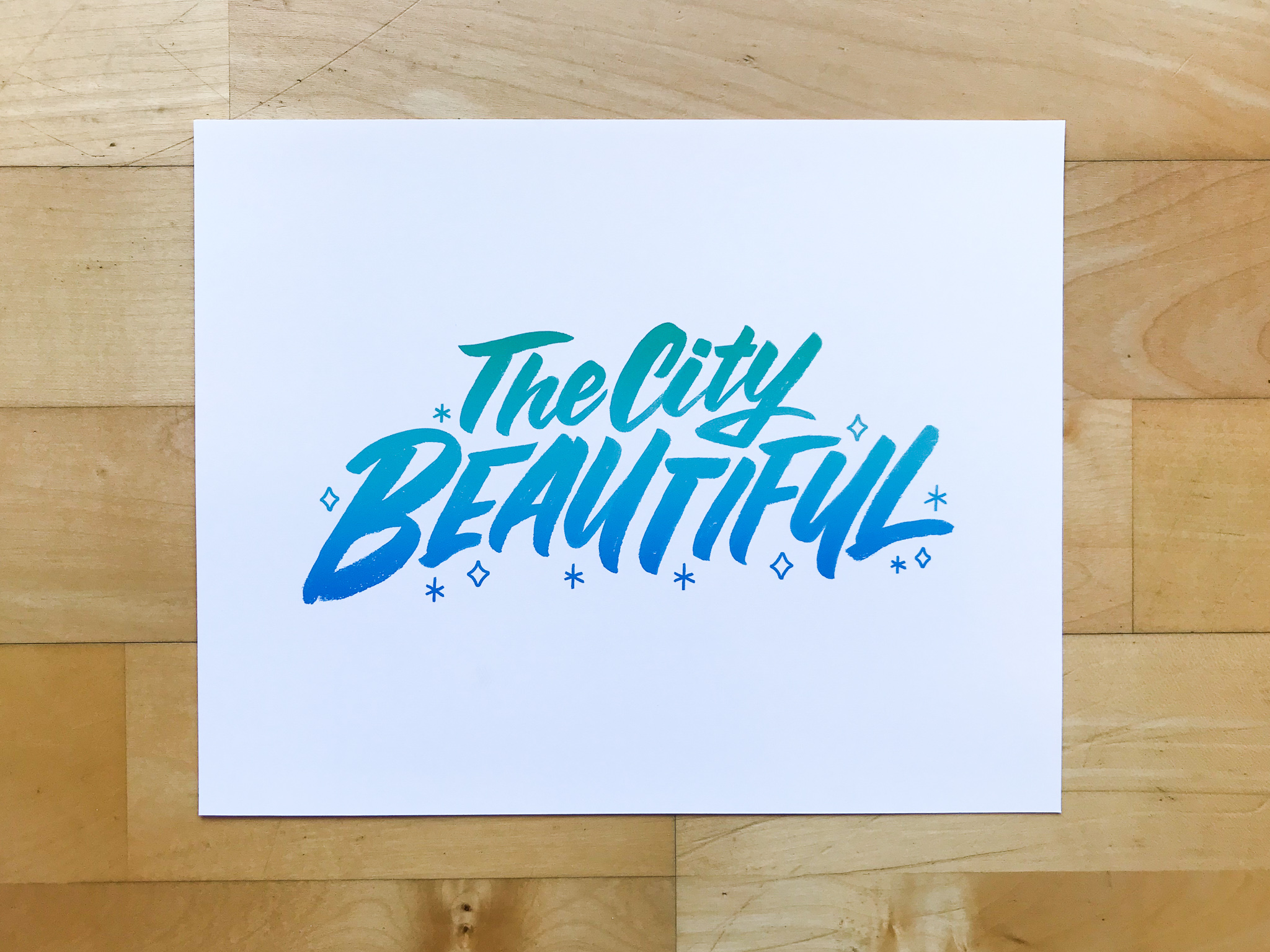 Downtown Orlando Neighborhood prints hand lettered by Hillery Powers