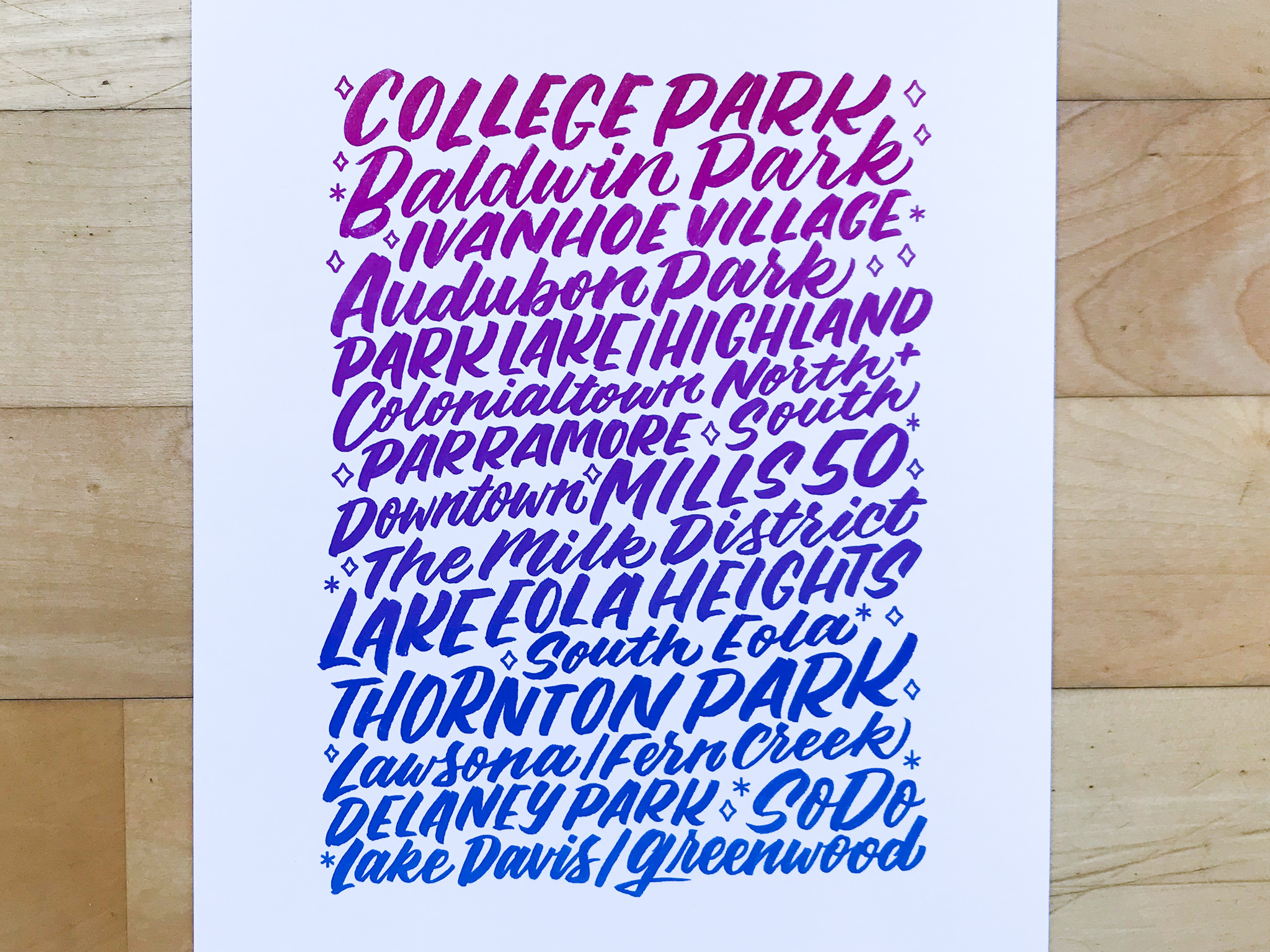 Orlando Neighborhood Prints