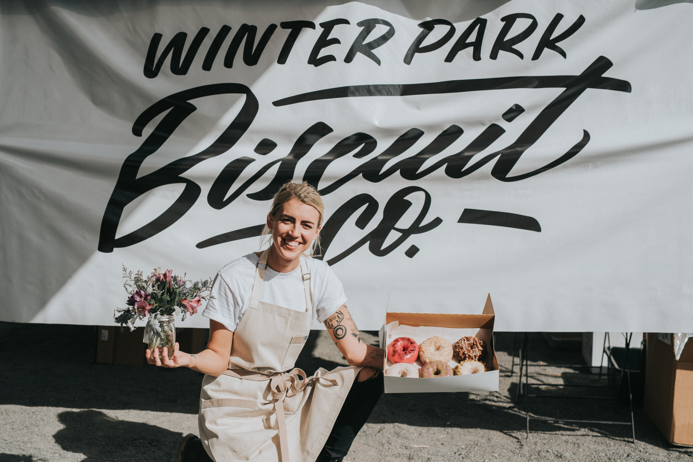 Winter Park Biscuit Co logo hand lettered by Hillery Powers