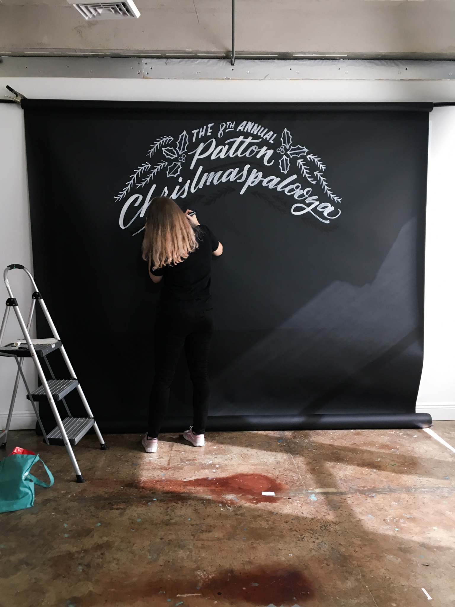 Hillery Powers painting backdrop