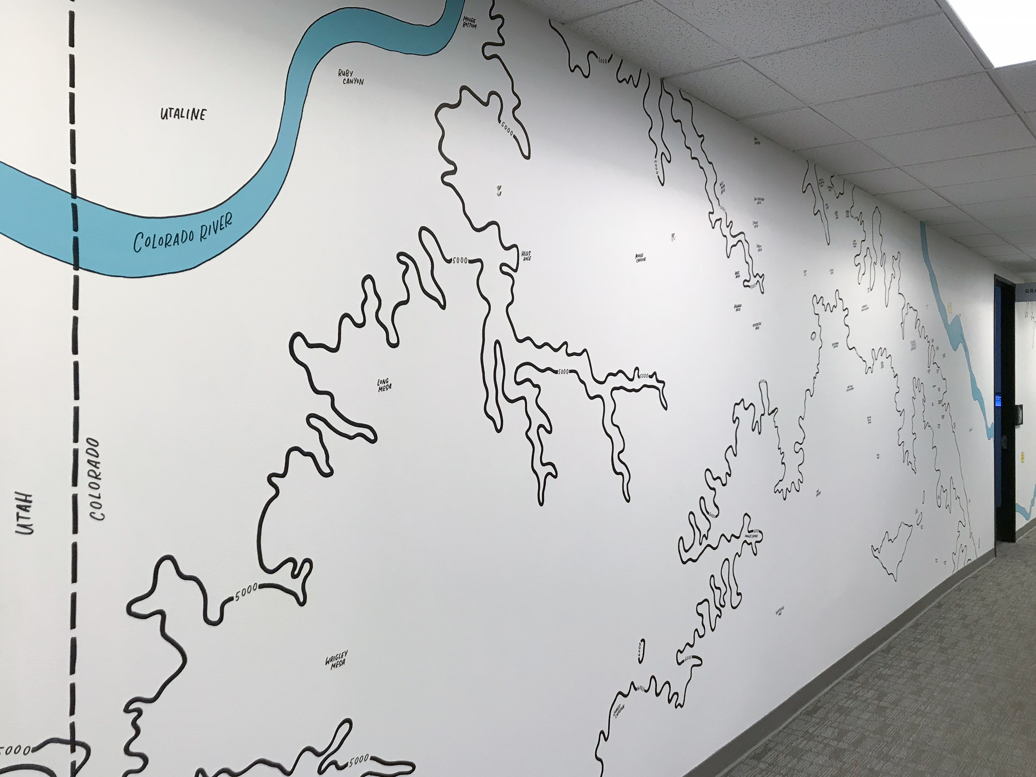 Gusto Topographic Mural – Hillery Powers
