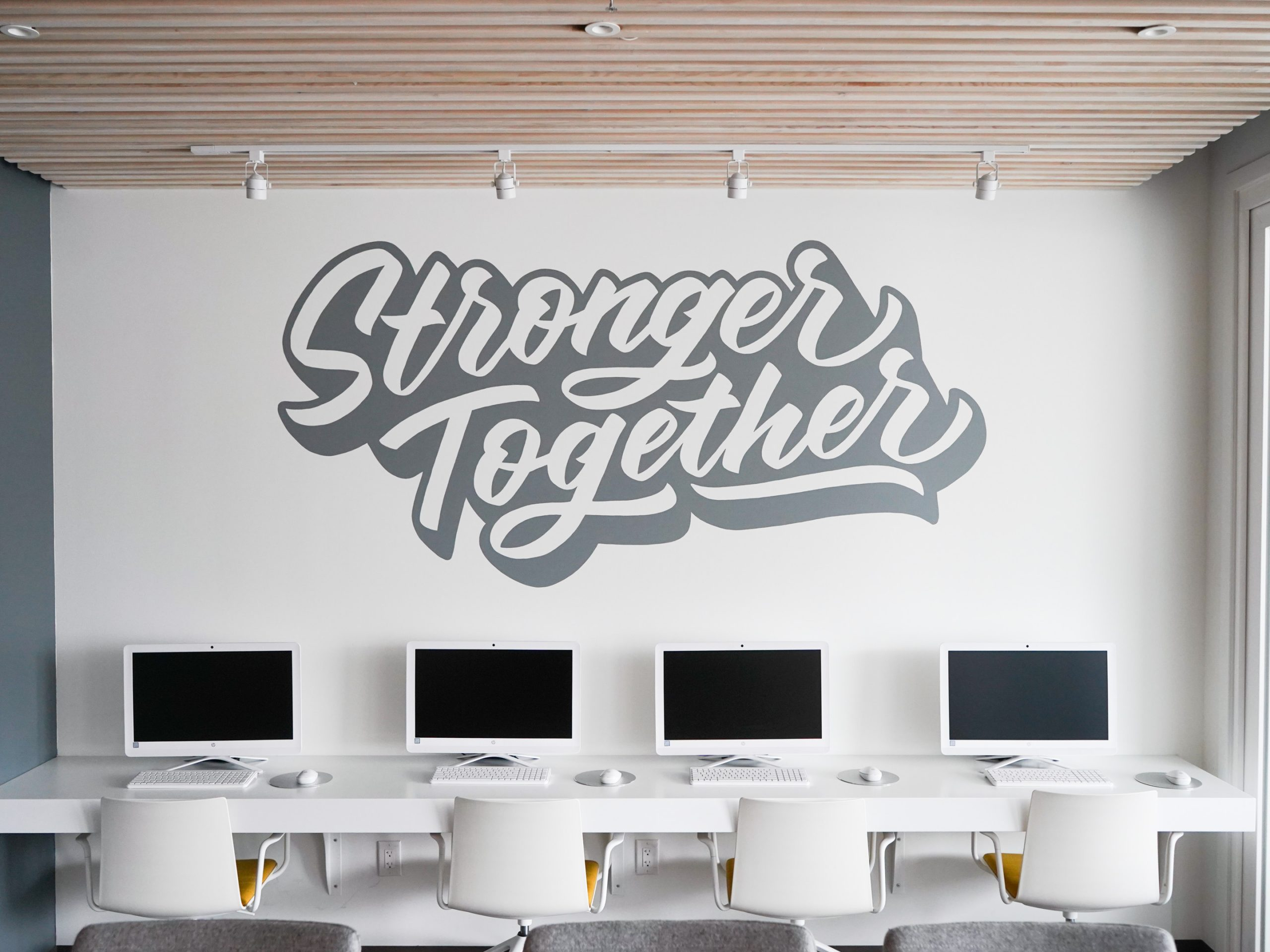 Stronger Together Mural for Invalesco Real Estate