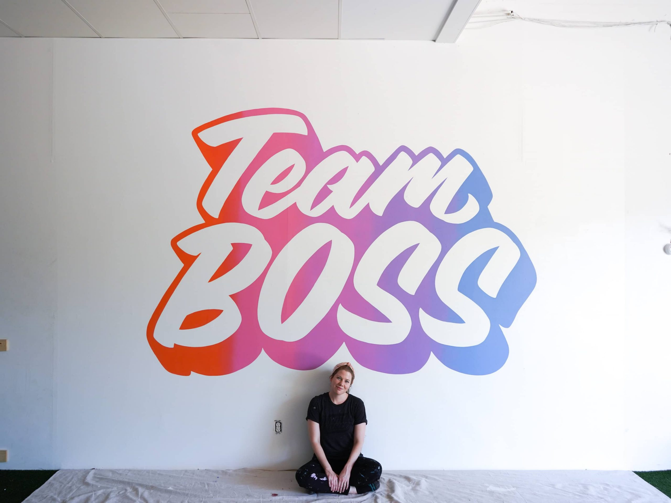 Team Boss mural